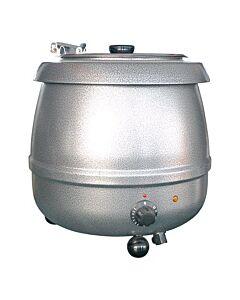 Soepketel Bistro grijs 10L, 230V / 400W, 35cm Ø, (h)36cm