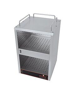 Kopjeswarmer rvs, H56 x B32 x L32, 230V / 2x 70W