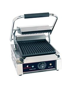 Contactgrill CaterChef solo compact, geribbeld/geribbeld, H21 x D40 x B29, 230V / 1800W