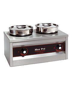 Bain Marie Foodwarmer Maxpro, 2 potten, H29 x B26 x L50, 230V / 330W