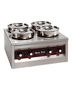 Bain Marie Foodwarmer Maxpro, 4 potten, H29 x B50 x L50, 230V / 660W