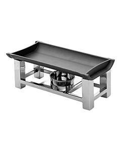Snack/Serveerwarmer Aluminum/RVS 30x15cm, HVS-Select