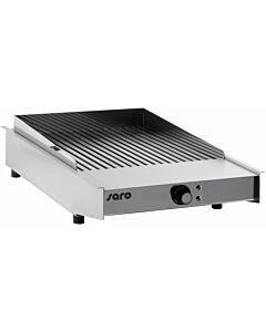 Grillplaat Saro, geribd, 42x60x15cm, 230v/3,4kW