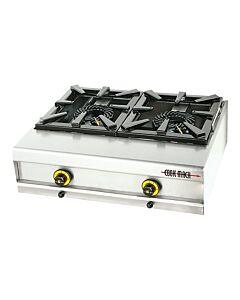 Gaskooktoestel 2-pits, Propaan, 74 B x 60 D x 23 H, 15 KW, Cook Mach