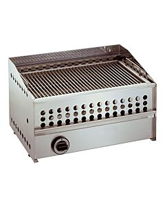 Lavasteengrill Aardgas, Rvs, L60 x B39 x H35 cm, HVS-Select