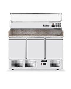 Pizzawerkbank Bartscher, RVS, 6x1/4GN, 140(b)x145(h)x70(d), 230V/270W