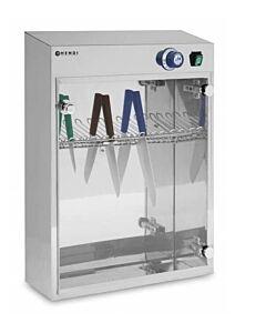 Uv Sterilisator, Geschikt voor 14 Messen, Timer tot 60 Minuten, 510x160x(H)610mm Hendi