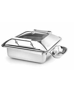Inductie Chafing Dish 2/3 GN, Glazen Venster, Met Lepelhouder Hendi