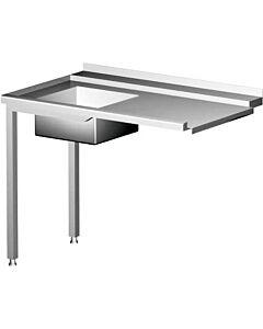 Hendi aanvoertafel voor vaatwassers, RVS, 70(b)x120(d)x88(h)cm, 231791