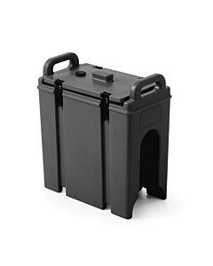 Hendi Geïsoleerde drankendispenser met tap, PET (Polyethyleentereftalaat), Zwart, 42(b)x23(d)x47(h)cm, 877869