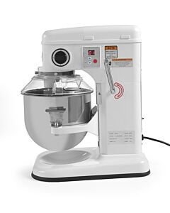 Hendi Mixer voor intensief gebruik 7 liter, Aluminium, Wit, 43(b)x33(d)x50(h)cm, 222829