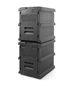 Hendi Thermo catering box, PP , Zwart, 46,5(b)x63,5(d)x66(h)cm, 707999