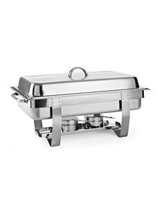 Hendi Chafing dish Gastronorm 1/1, RVS;RVS, 38,5(b)x58,5(d)x31,5(h)cm, 471005
