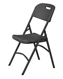 Hendi Catering stoel - zwart, HDPE (Hoge dichtheid Polyethyleen), Zwart, 44(b)x54(d)x84(h)cm, 810989