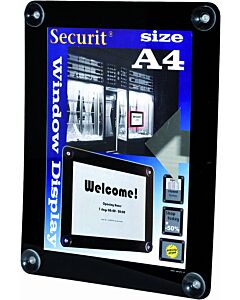Raamdisplay posterframe Securit, A4, Zwart