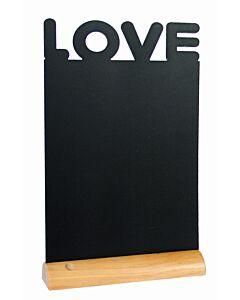 Tafelkrijtbord Securit, Love, hout, incl. 1 krijtstift dun wit