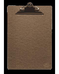 Klembord A4, Bruin met Bronzen klem, Securit