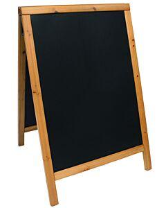 Voordeelset, Bord incl. krijtstiften, 85x55 cm, 6 Kg, Zwart of Teak