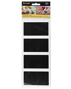 Krijtbord sticker Securit, rechthoek, Zwart, 8 stuks
