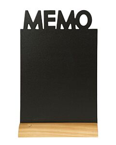 Tafelkrijtbord Securit, Memo, hout, incl. 1 krijtstift dun wit