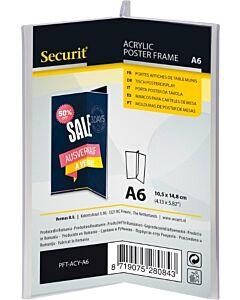 Menukaarthouder Acryl, Transparant A6, Y-vorm Securit