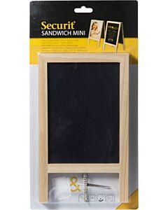 Tafelkrijtbord stoepbord mini Securit Blank, 24x15 cm, A5 formaat