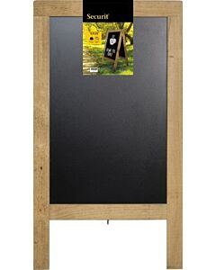 Stoepbord Steigerhout, 12kg, 131x72cm, Naturel, Securit