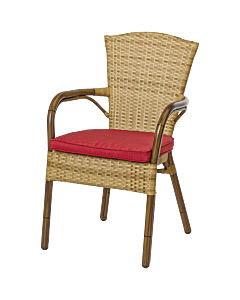 Horeca terrasstoel rotan Granada, met bamboe look. Vanaf 8 stuks