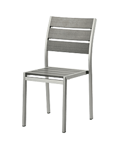 Horeca terrasstoel polywood Paris, grijs, zonder armleuning. Vanaf 8 stuks