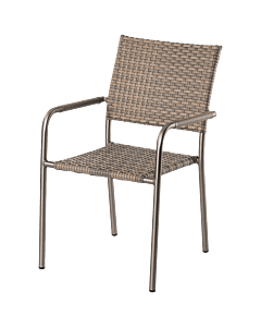 Horeca terrasstoel Cannes, rotan, met armleuning. Vanaf 8 stuks