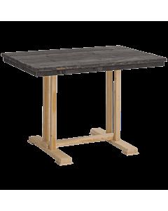 Horeca tafel steigerhout Indiana, Wengé accent. Vanaf 2 stuks
