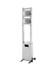 Horeca terrasverwarmer Proline, 2x2 kW, RVS