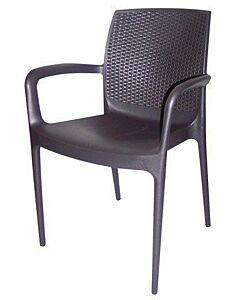 Horeca terrasstoel Mallorca, met armleuning, zwart, Vanaf 8 stuks