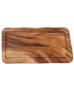 Rechthoekige plank met gleuf 30 x 15 x 2 cm