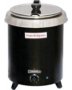 Soepketel Casselin, RVS, zwart, 8,5L,  Ø29,5cm, hoogte 38,5cm