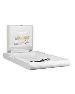 Babyverschoontafel Mediclinics,  CP0016V, Wandmontage, verticaal wit, Inclusief dispenser