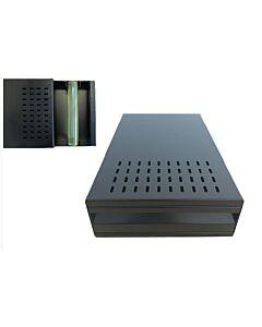 Uitkloplade heavy duty black, tafelmodel, 40x27x12cm