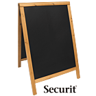 Stoepbord Basic 6kg, 85x55cm Teak, Securit