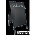 Stoepbord Basic 9kg, 125x70cm Zwart, Securit