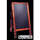 Stoepbord Basic 9kg, 125x70 Mahonie, Securit