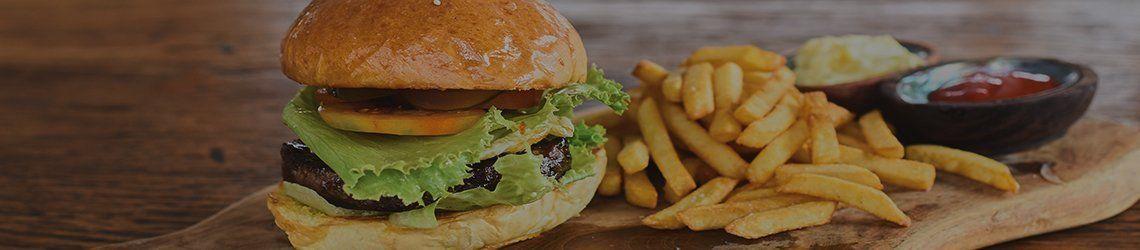 Hamburger en frites